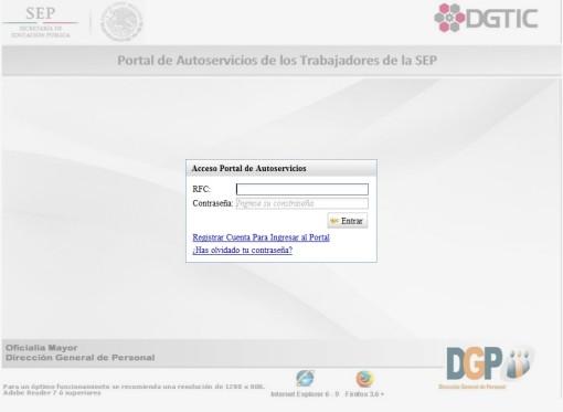 Portal de Autoservicios SEP-SEMS