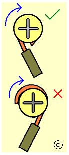 Apriete correcto de un cable a un tornillo...
