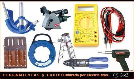 Herramientas para electricistas.