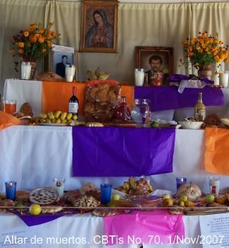 Altar de muertos del Personal del CBTis 70