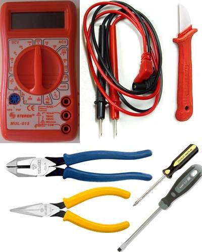 Herramientas de un electricista residencial
