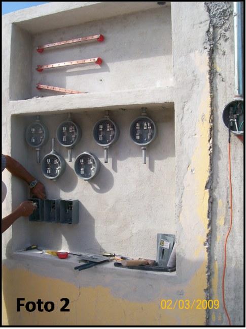 Foto 1. Instalación anterior ya desmantelada. Se desconectó la ...