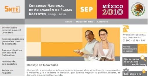 Concurso Nacional Plazas Docentes 2009-2010