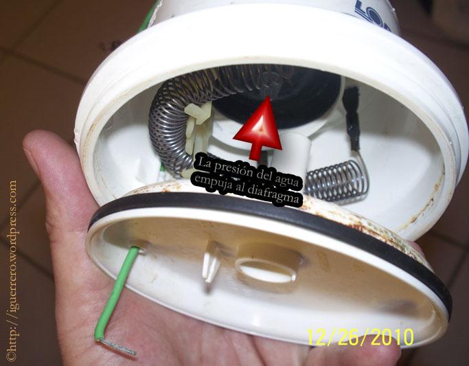 Ducha el ctrica funcionamiento y partes el espacio del for Poca presion de agua