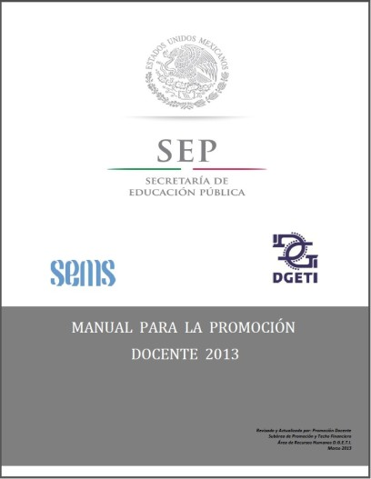 Portada Manual Promoción 2013