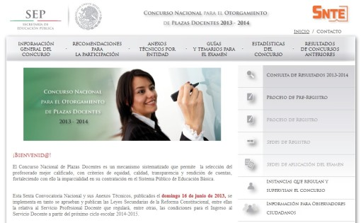 Concurso Nacional de Plazas Docentes 2013-2014