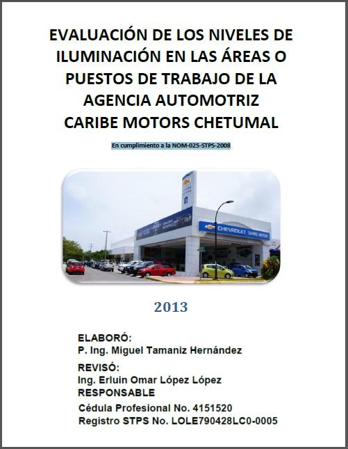 Evaluación de Niveles de Iluminación Ing. Miguel Tamaniz Hernández