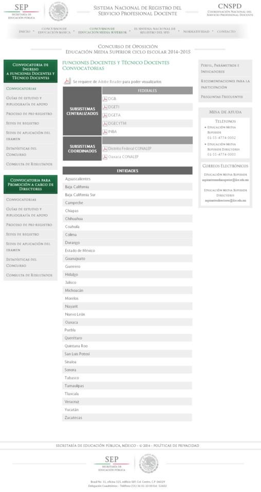 Convocatorias para ingreso de docentes y directores al Convocatoria para las plazas docentes 2016