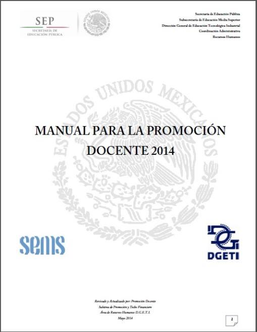 Manual Para La Promoción Docente 2014