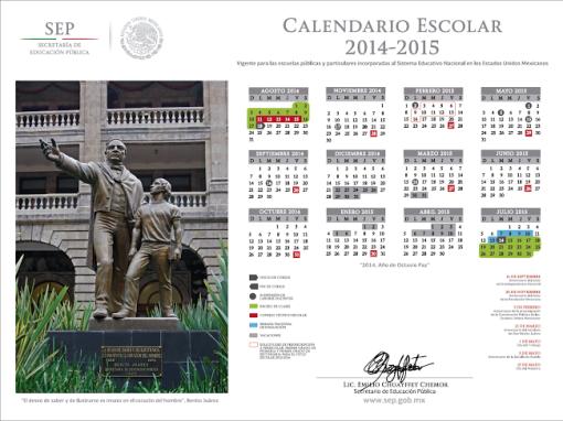 calendario Escolar Oficial 2014-2015