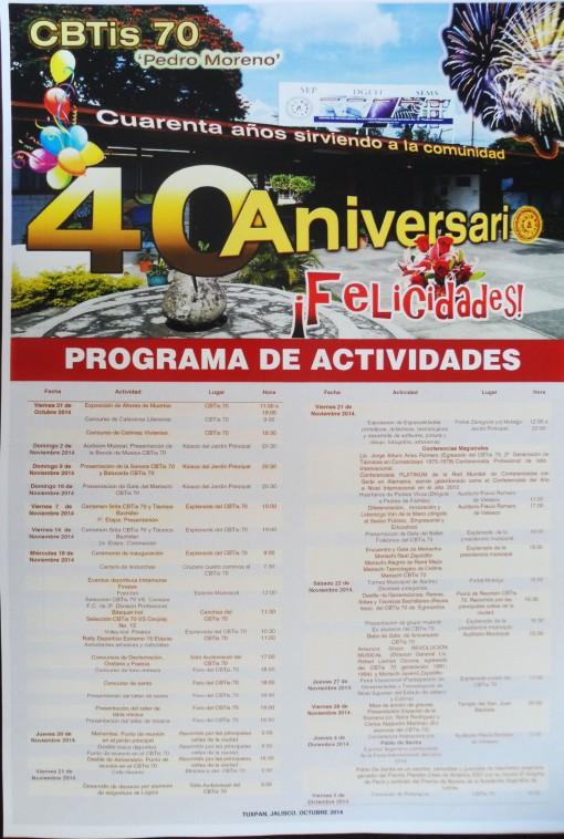 Programa Aniversario 40
