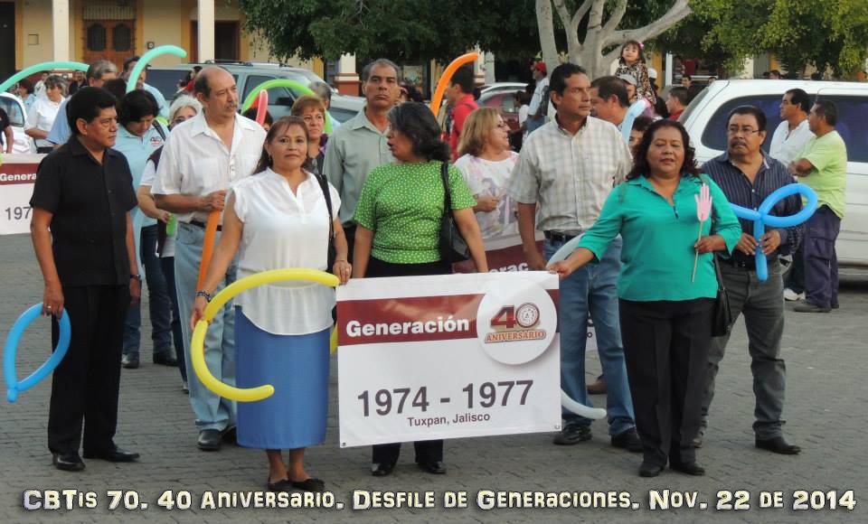 CBTis 70. Desfile de Generaciones. | el espacio del ing. i. guerrero