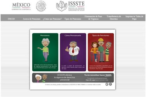 Issste informaci n sobre los tipos de pensiones el for Oficina virtual del issste