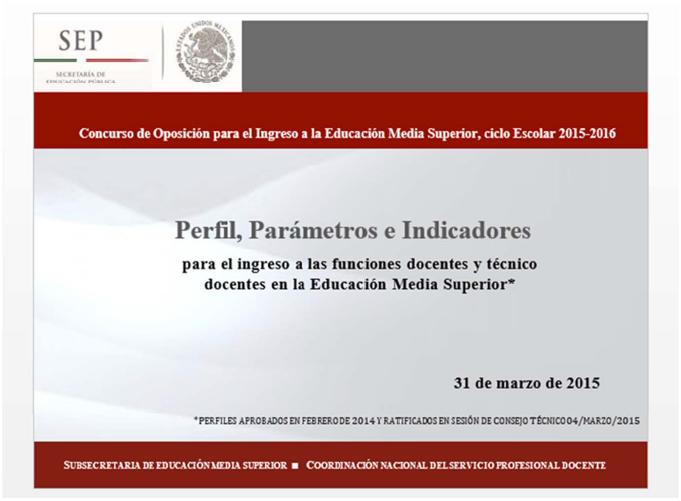 Proceso de ingreso al servicio profesional docente 2015 for Docentes en el exterior 2016