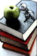 manzana Y libros