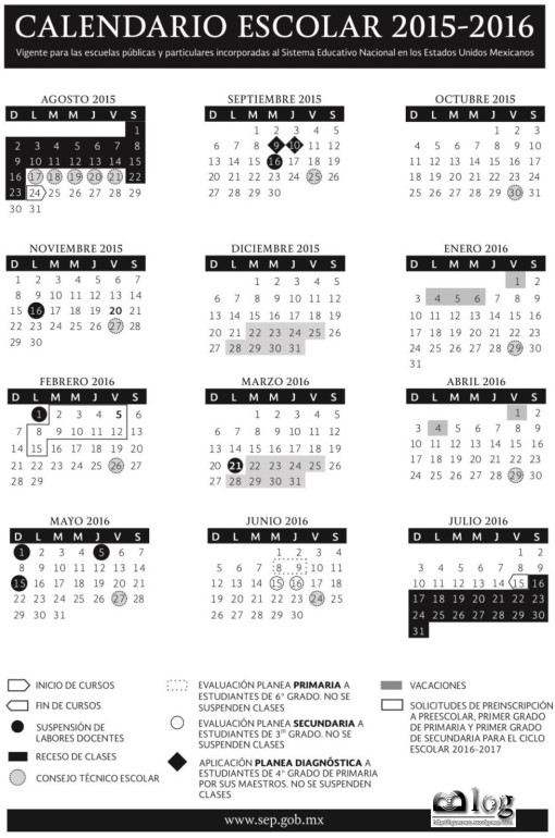 SEP Calendario Oficial 2015