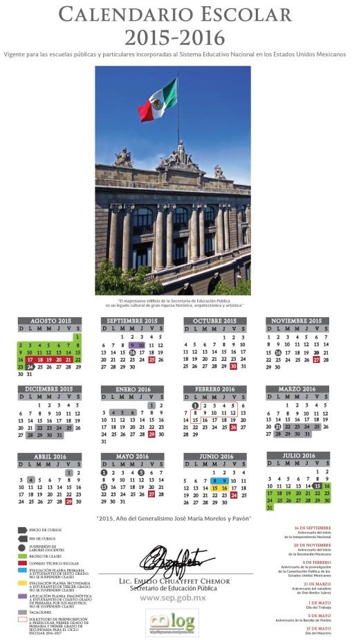Calendario Escolar Oficial 2015-2016