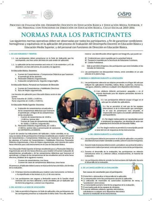 Normas para los participantes