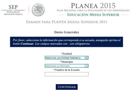 Acceso a practicas con PLANEA 2015