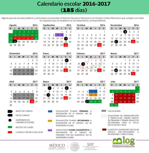 Calendario Oficial SEP 185