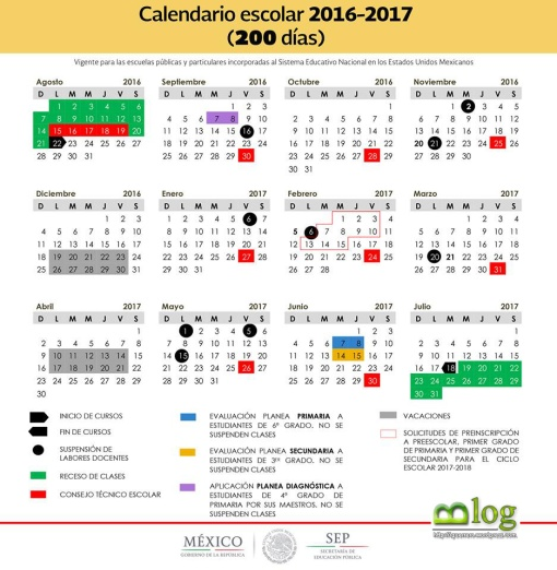 Calendario Oficial SEP 200