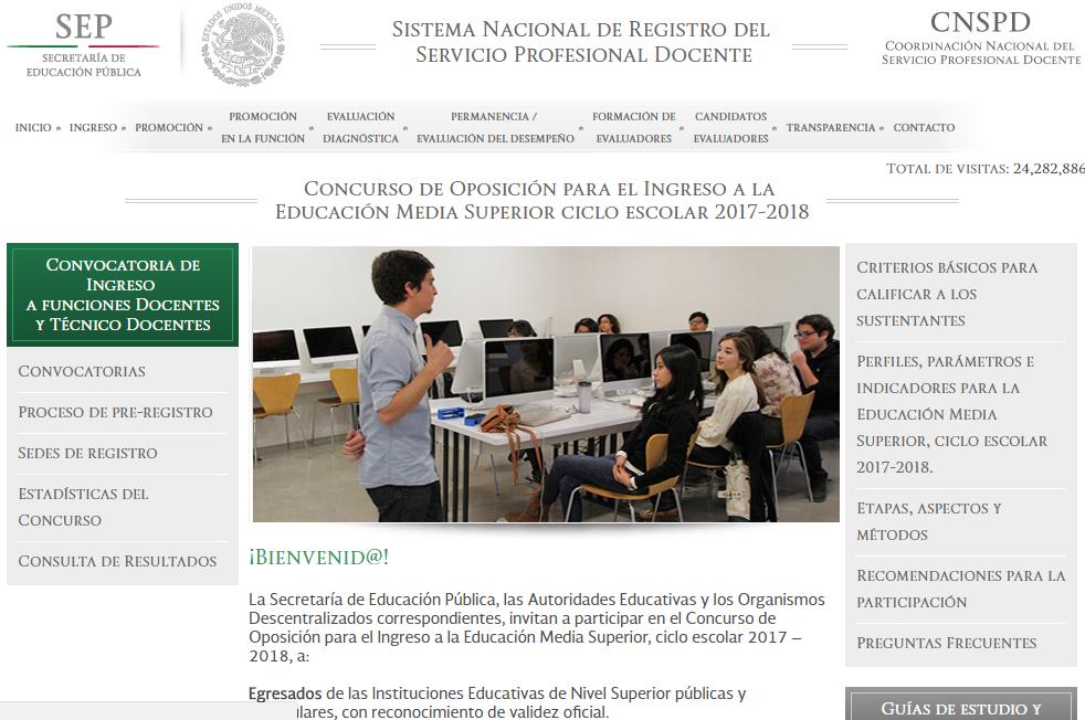 concurso de plazas docentes 2017 2018 nb y nms el