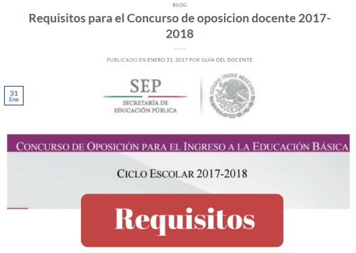 Requisitos para el concurso de oposici n docente 2017 for Concurso de plazas docentes 2017